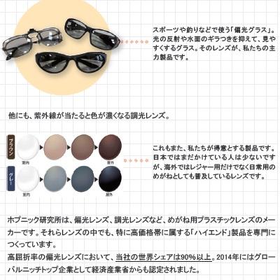 世界シェア9割! 有名ブランドのサングラスにも使われるホプニック研究所の「偏光レンズ」